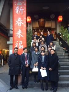 烏森神社で新年祈願の様子です。