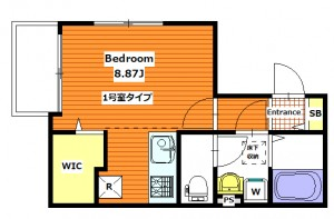 (仮)梅島2丁目AP 1号室タイプ